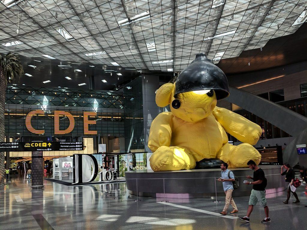 Qatar Doha Hamad Airport Teddy Bear