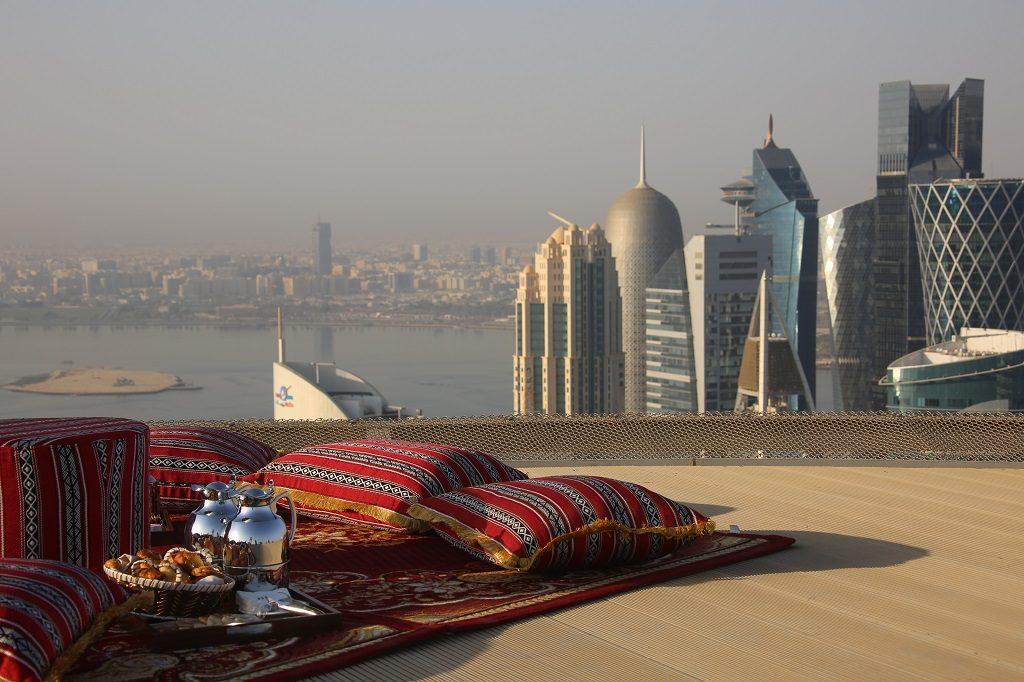 Shangri La Doha Hotel Helipad Breakfast