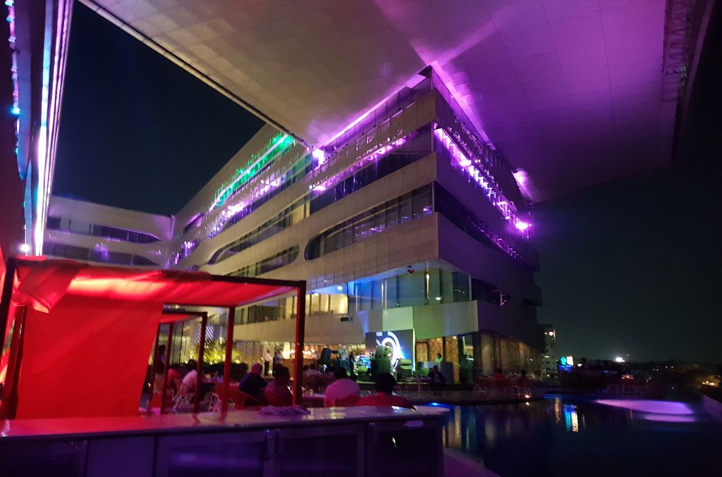 THE Park Hotel Hyderabad India At Night