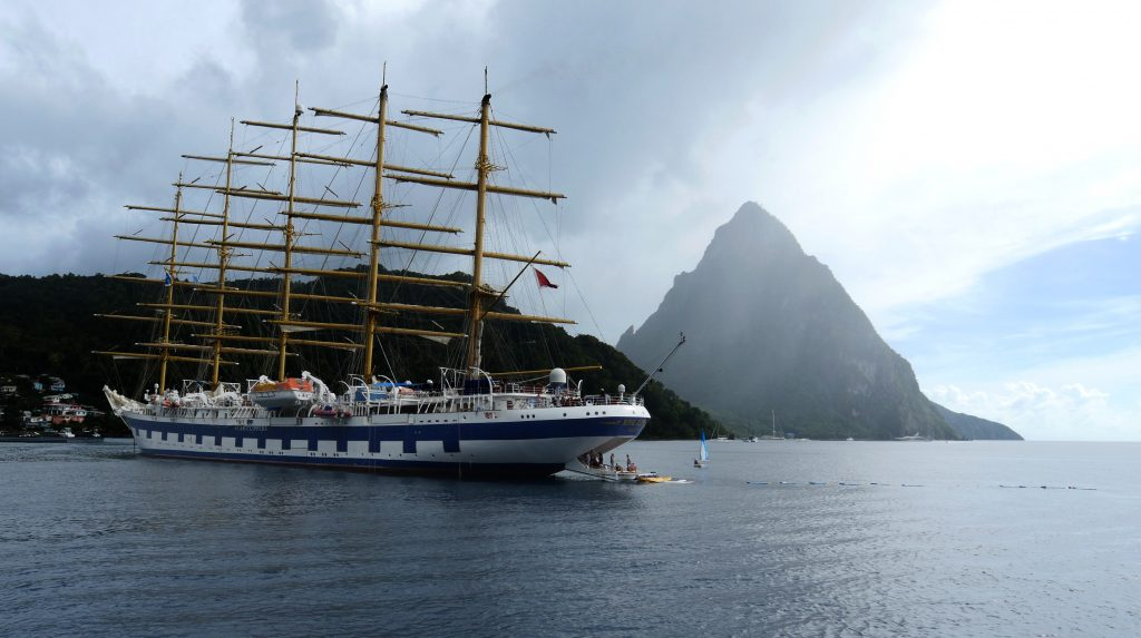 St Lucia - Piton and Ship