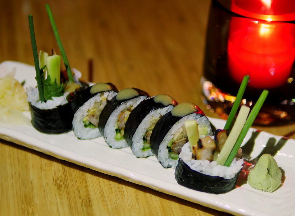 Chino Latino Albert Embankment maki rolls