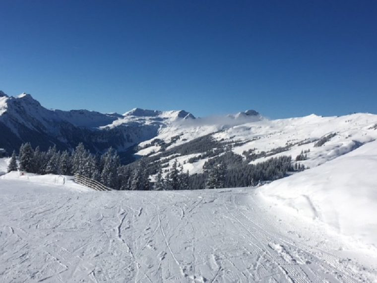 Saalbach Austria a perfect ski day
