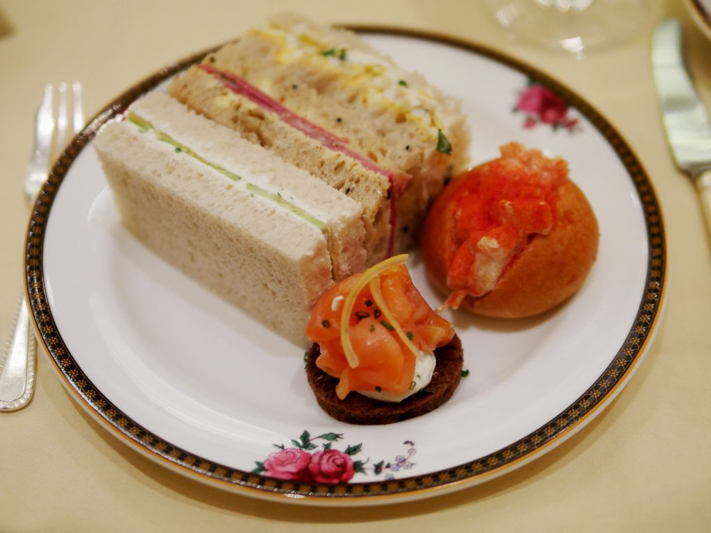 Langham Hotel Afternoon Tea - sandwiches