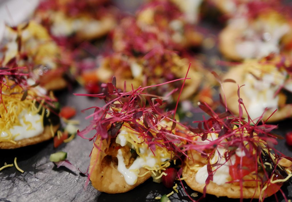 Little Kolkata Indian supper club London -papri chaat