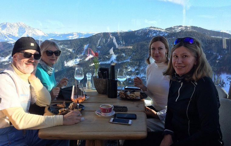 Lunch at Hendl Fischerei Leogang Austria