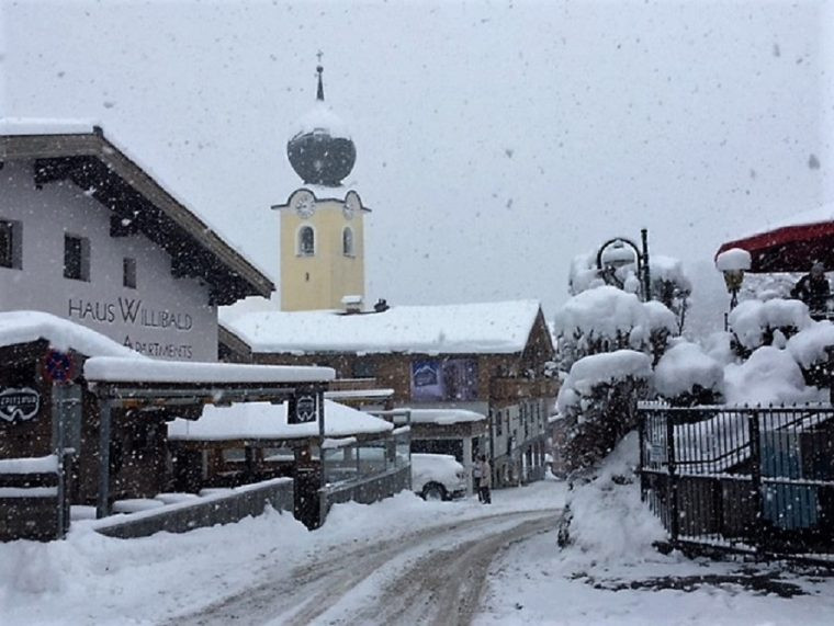 Saalbach Austria looking towards the church in the centre