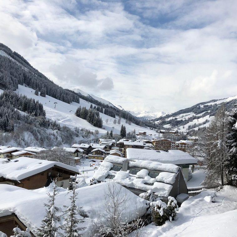 Snowy Saalbach Austria - View from my balcony