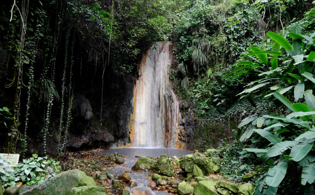 Waterfall Soufriere Botanical Garden