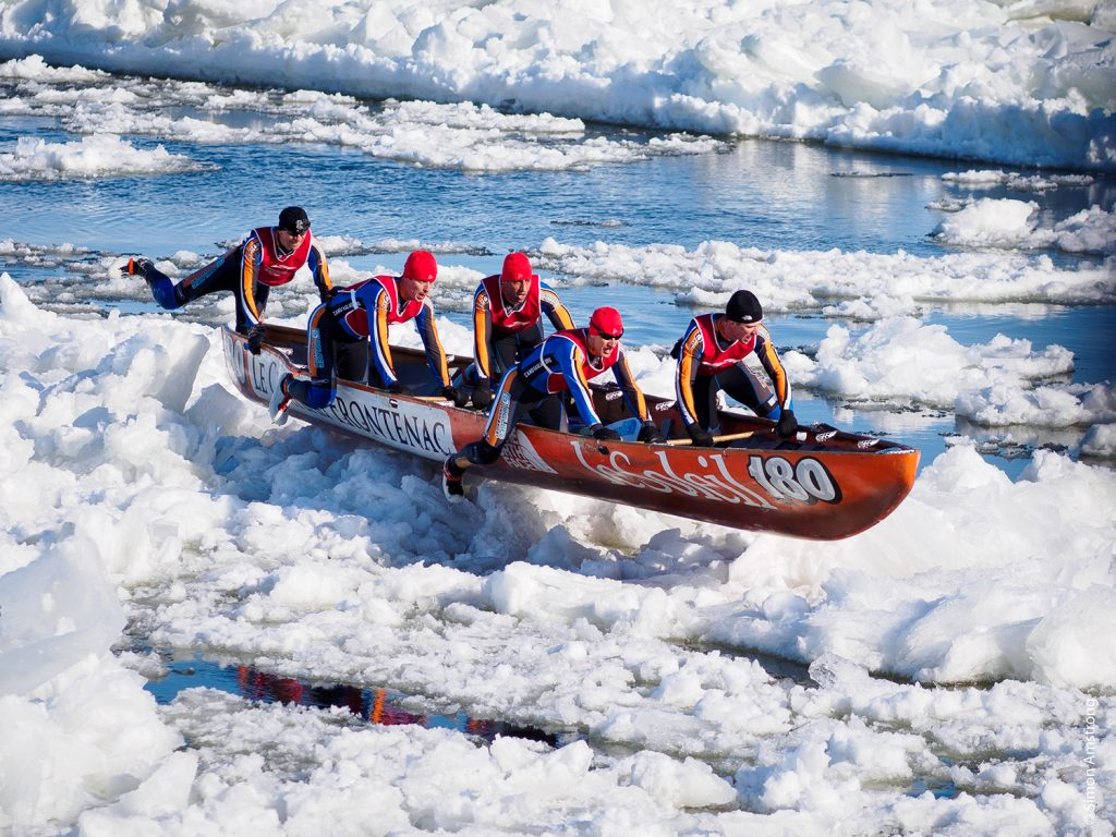 Ice canoeing - Quebec Winter Carnival