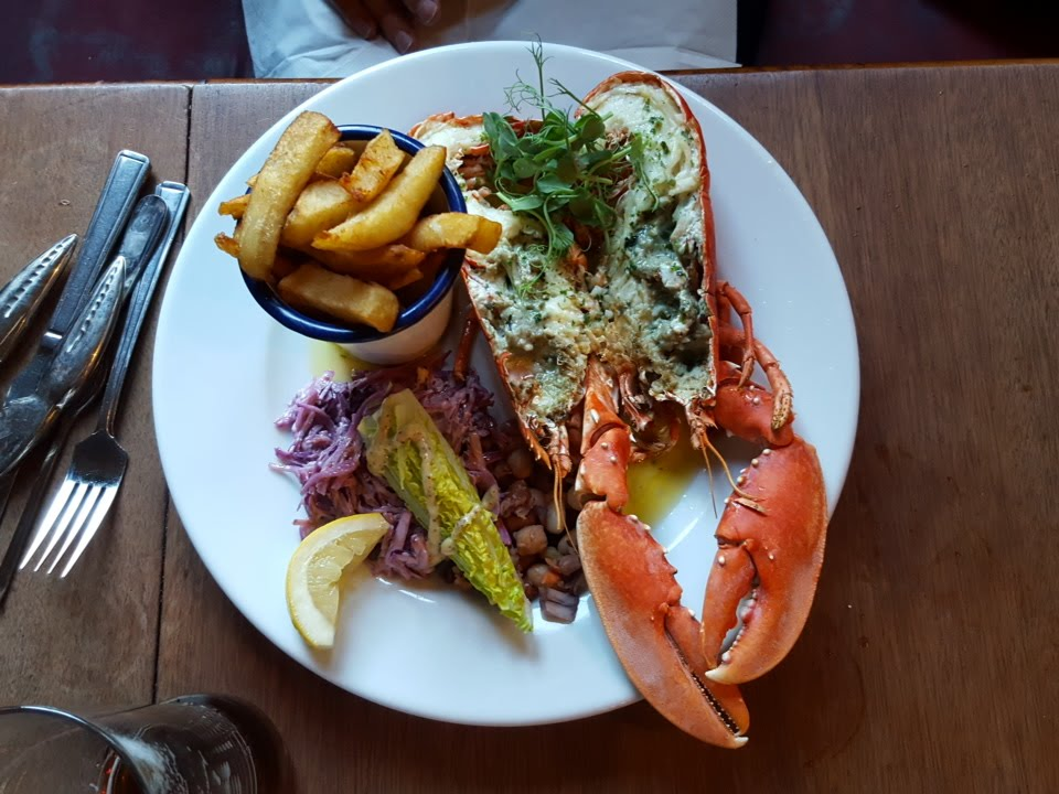 Lobster lunch at The Alma, Harwich