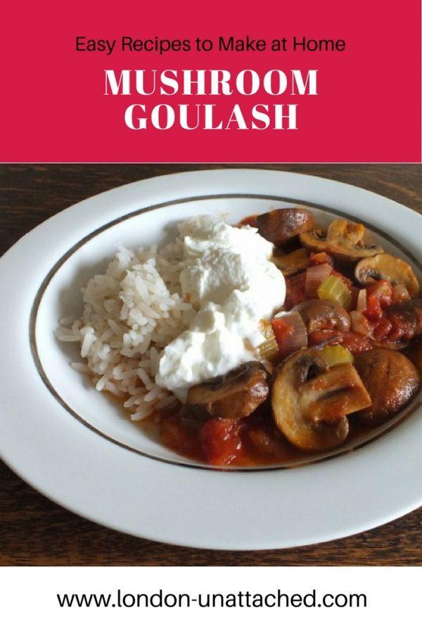 Mushroom Goulash, Vegetarian Goulash, Vegetarian Mushroom Goulash, Mushroom Goulash Recipe