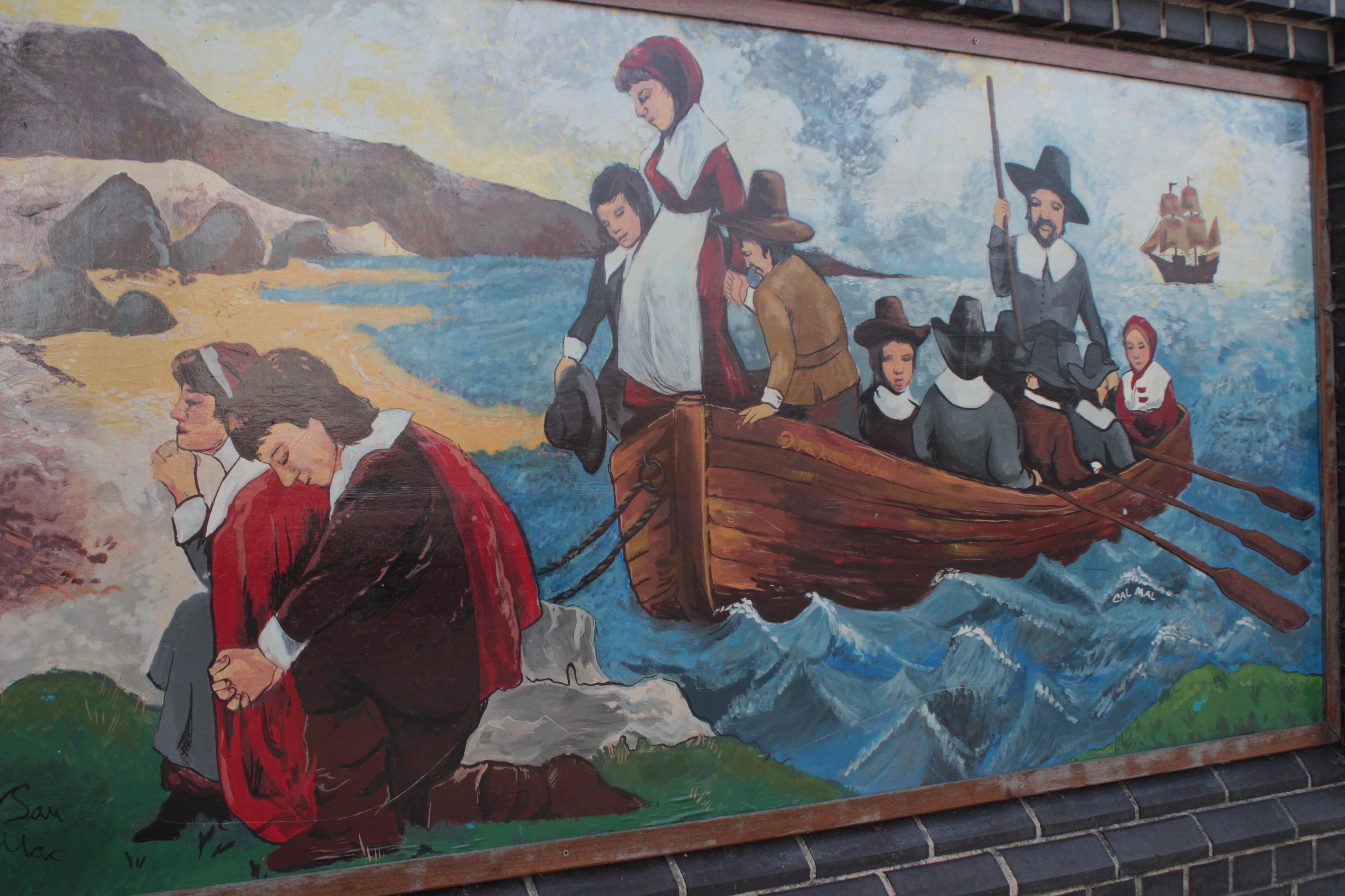 Pilgrims at prayer mural, Harwich