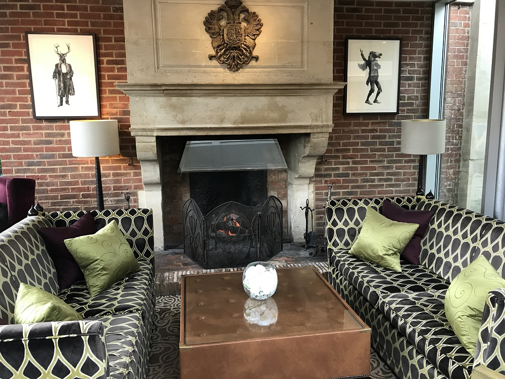 Sopwell House Lobby & Fireplace