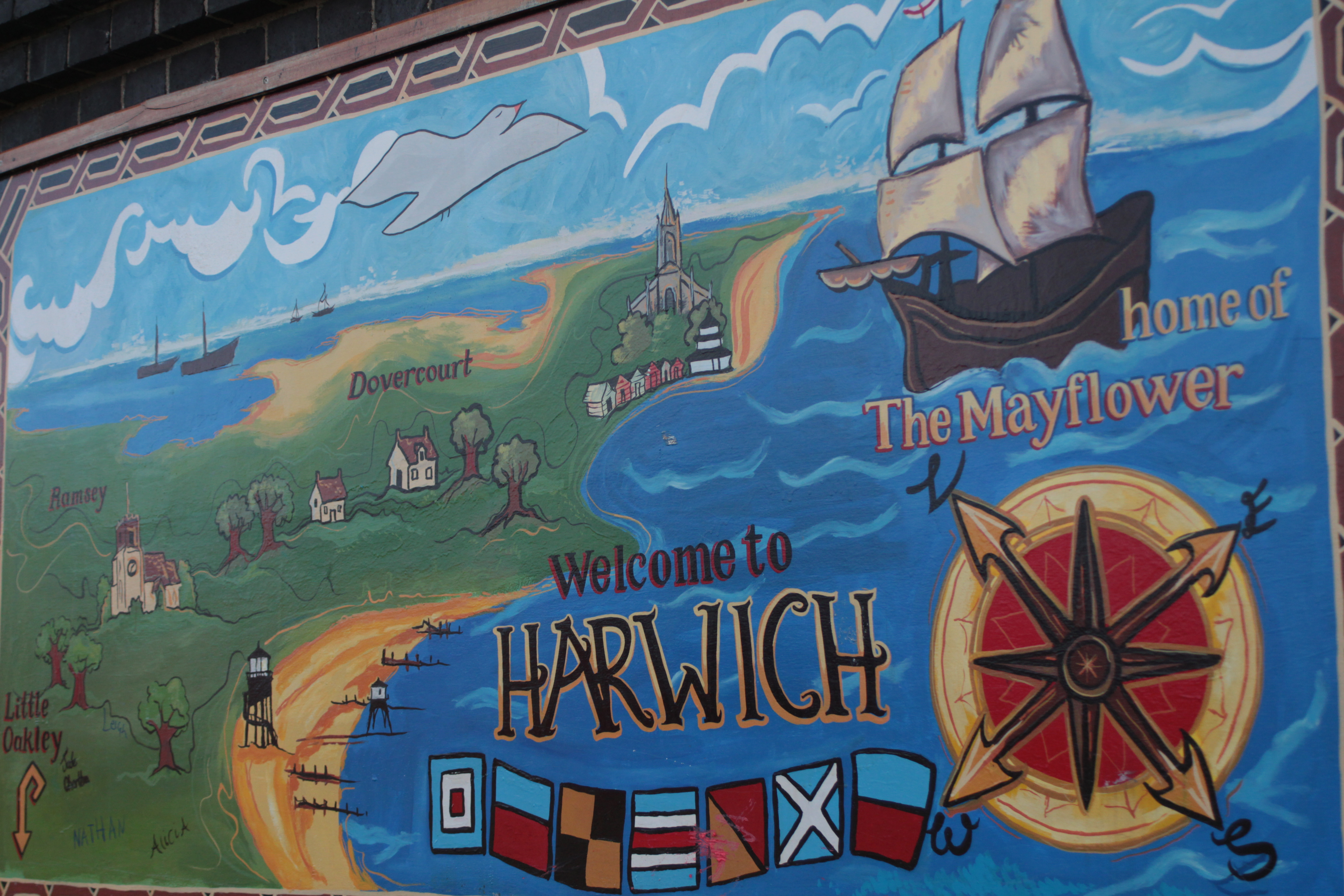 Welcome to Harwich mural, Harwich