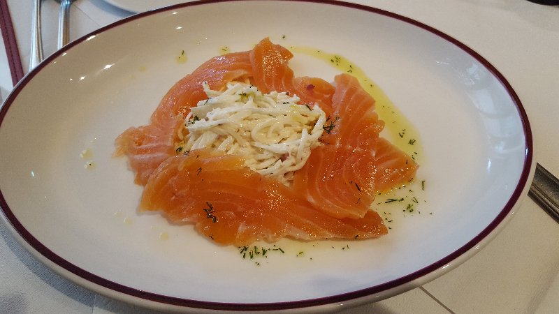 Citrus Marinated Salmon, Palm Court Brasserie