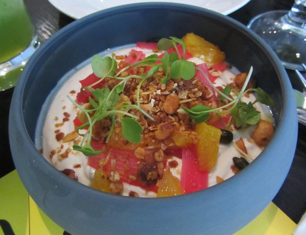 Eastway at Andaz - Greek yogurt with rhubarb
