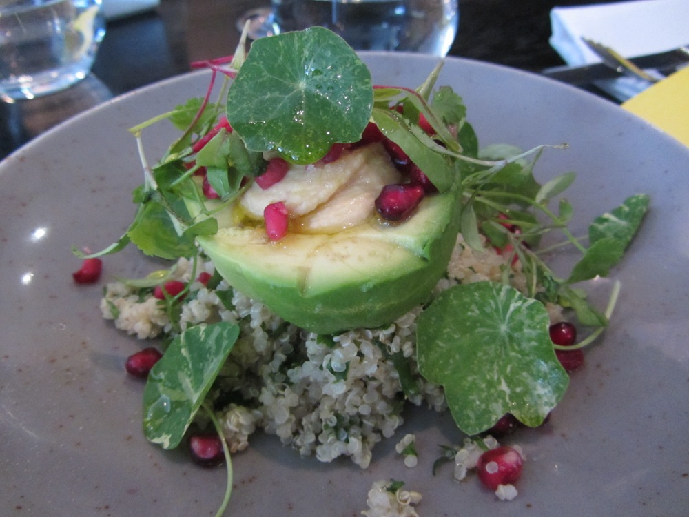 Eastway at Andaz - Avocado with quinoa