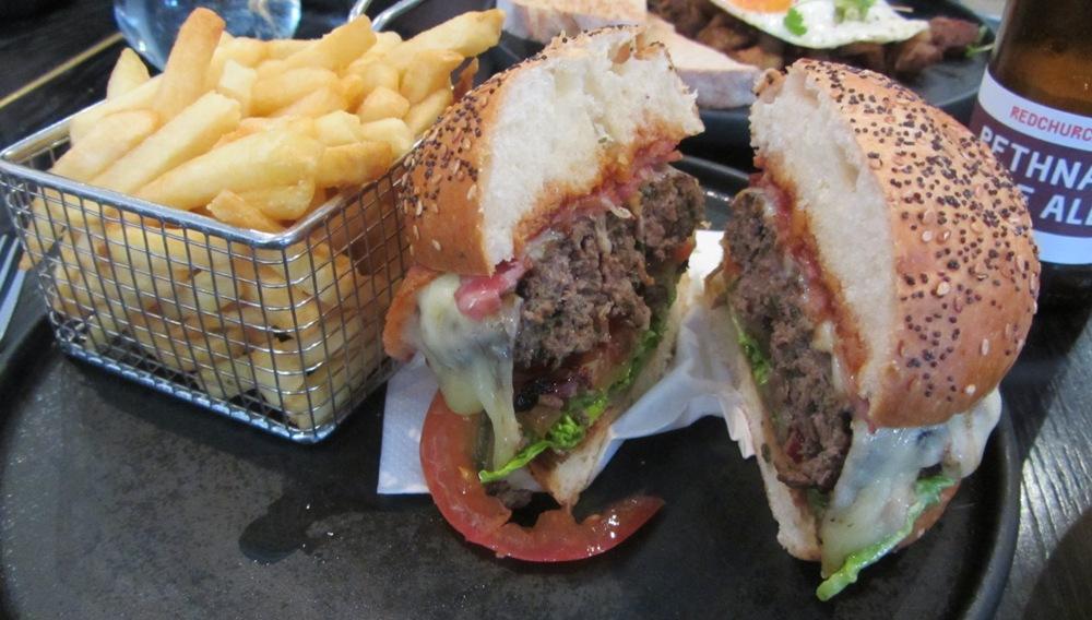 Eastway at Andaz - brunch burger