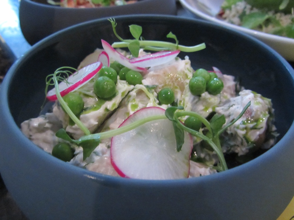 Eastway at Andaz - crab and Jersey salad