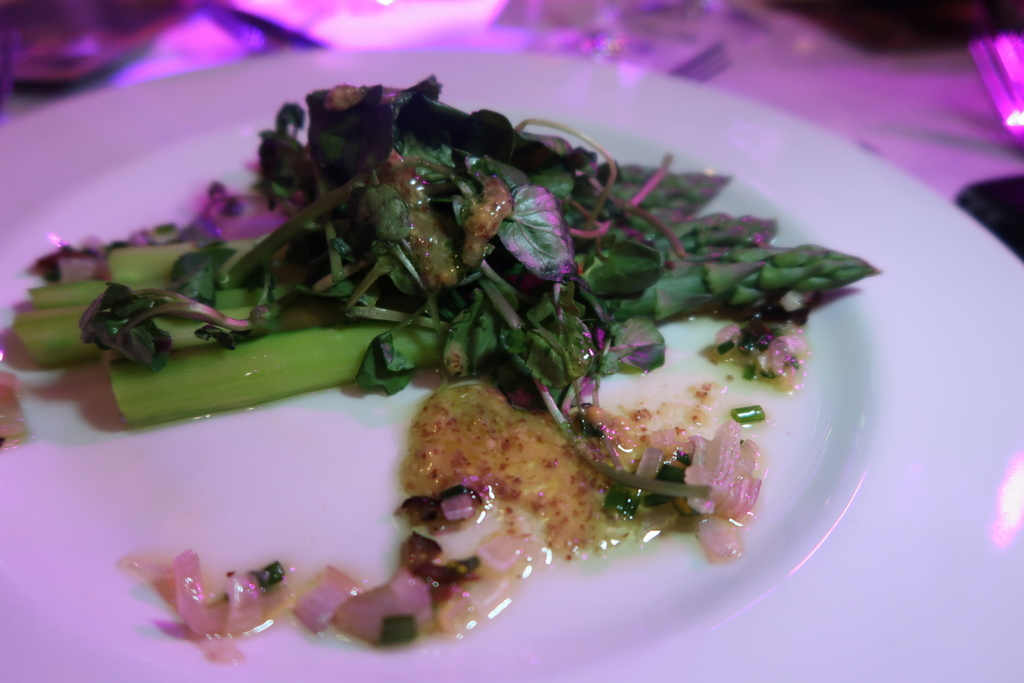 Grilled asparagus with a truffle vinaigrette