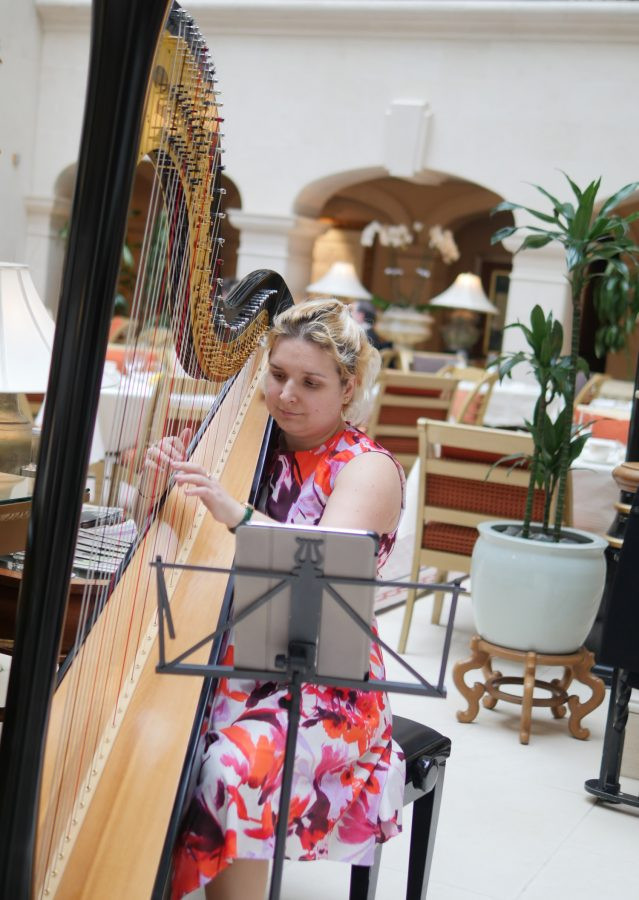 Harpist Afternoon Tea Landmark Hotel London