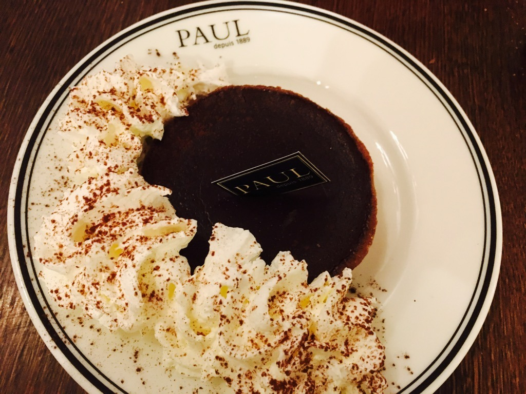 PAUL chocolate tarte