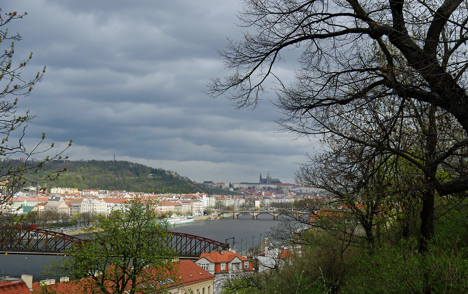 River Prague from Vysehrad