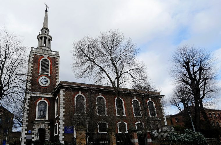 Rotherhithe St Marys Church, Mayflower in London