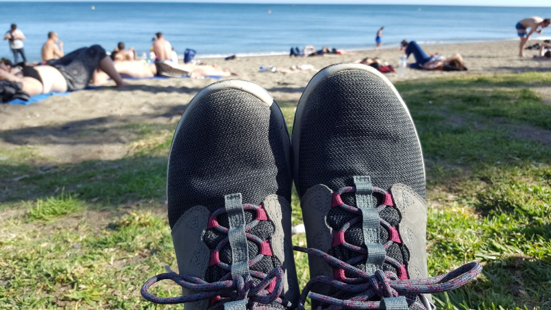Teva shoes beach