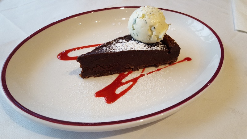 Valrhona Chocolate Tart, Palm Court Brasserie