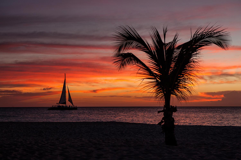 Aruba - Sailing into the Sunset