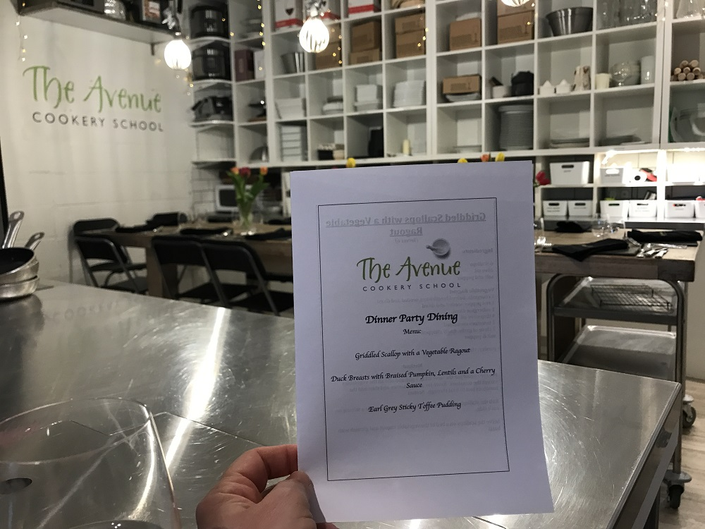 Avenue Cookery School Menu