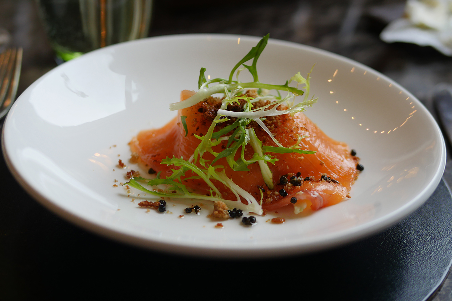 Balcon Restaurant Sofitel London St James -smoked salmon
