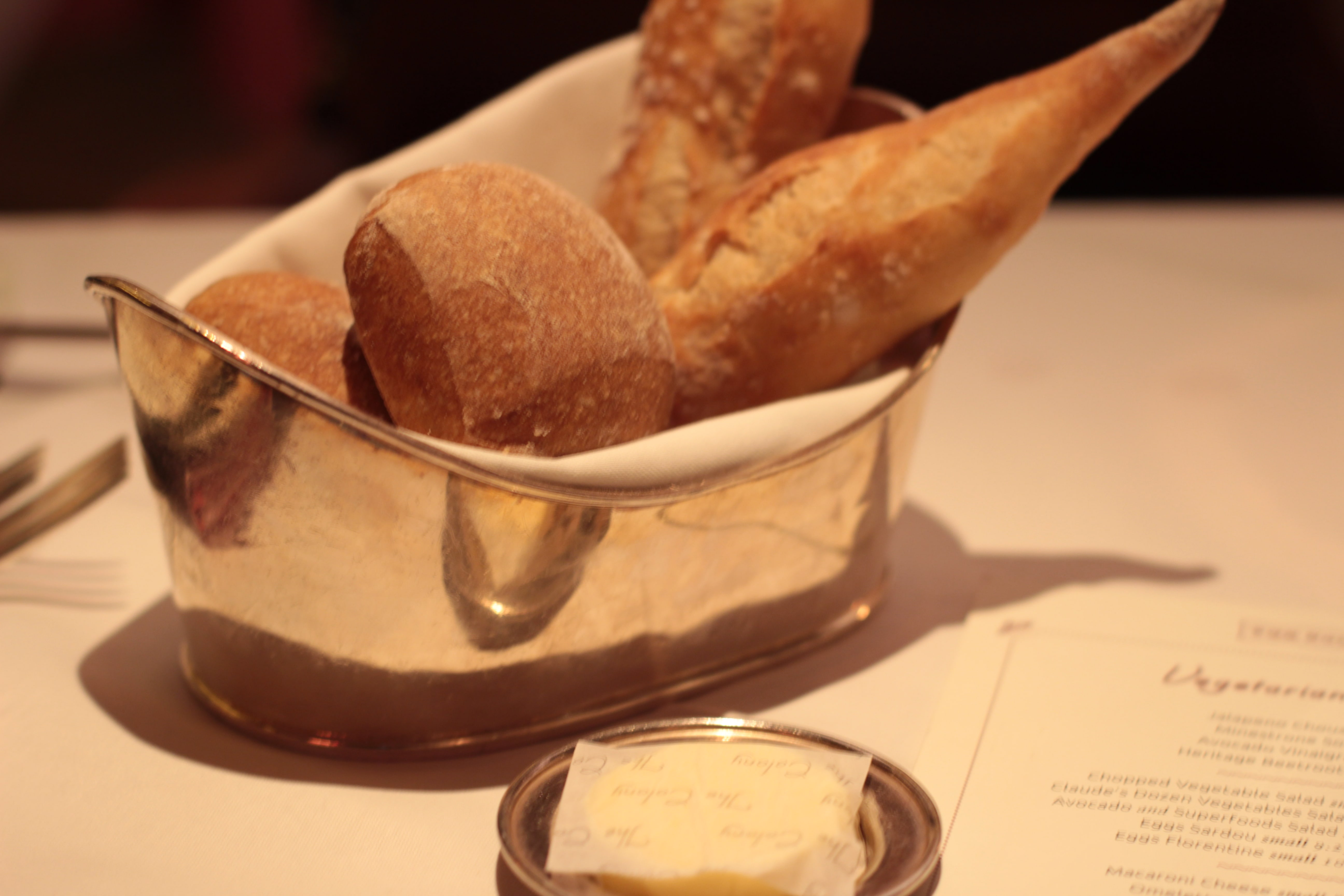 Bread and butter, Colony Grill