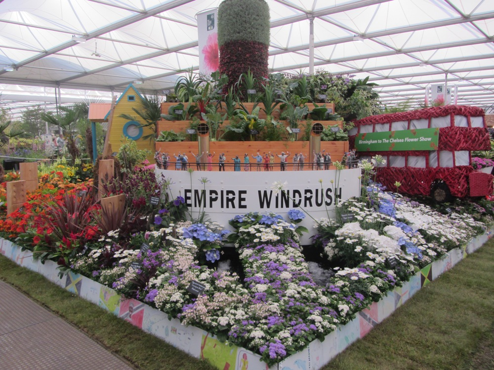 Chelsea Flower Show - Windrush display the ship