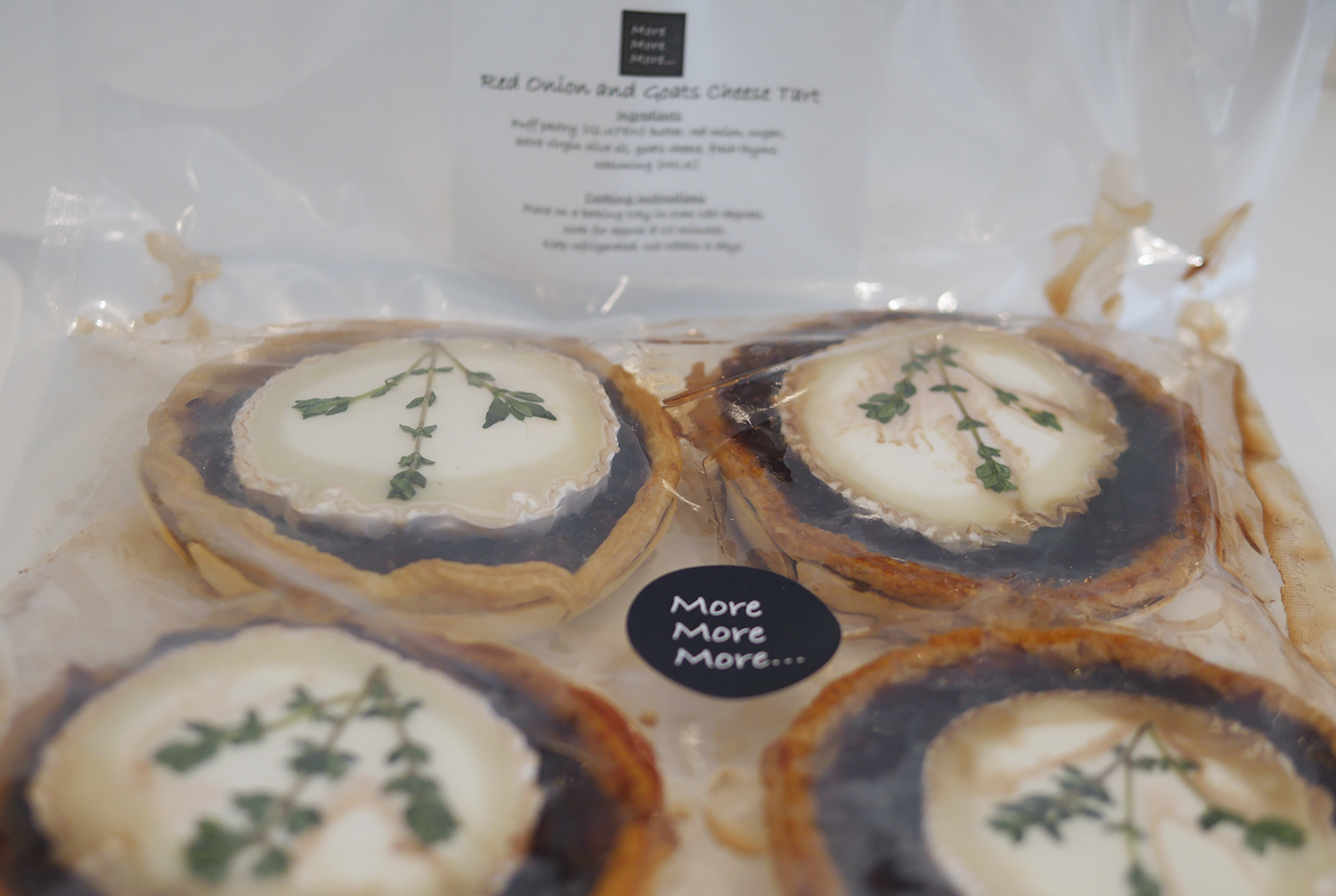 More More More - Goats cheese and REd Onion Tarts