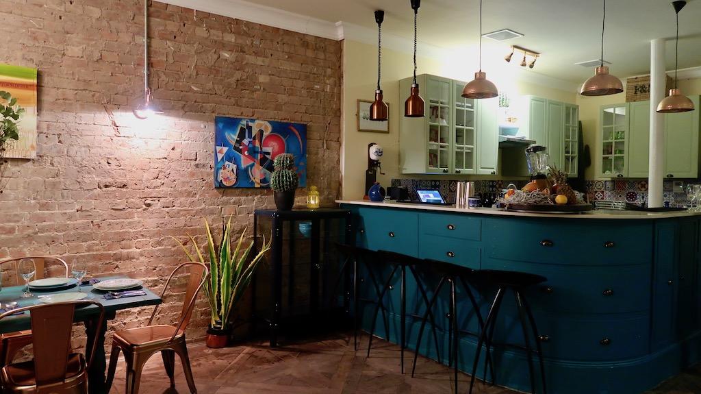 The Little Blue Door - kitchen:diner