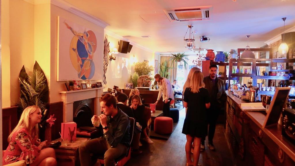 The Little Blue Door - living room:bar