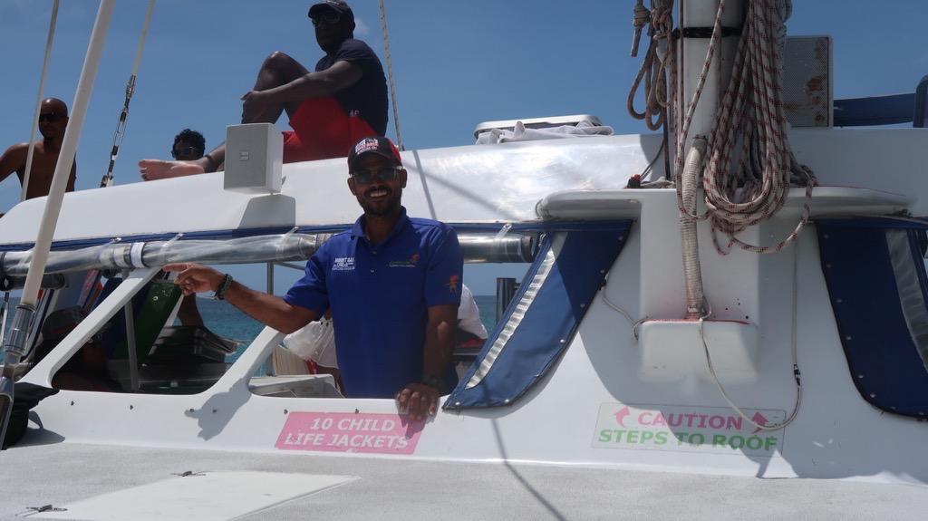 Aboard Jammin' Barbados