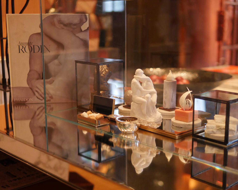 Afternoon Tea London Rosewood Hotel Rodin Display