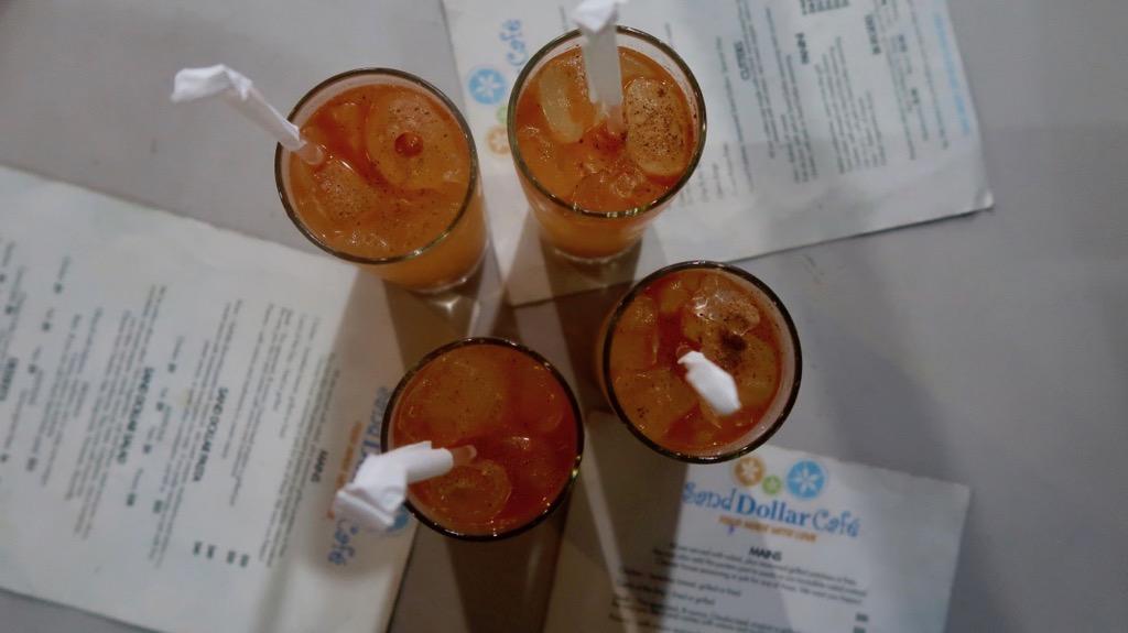 Ann's rum punch Sand Dollar Cafe, Barbados
