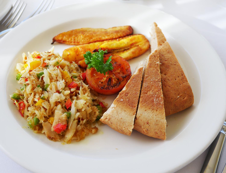 Calabash Hotel Grenada - Salt Cod and Bakes