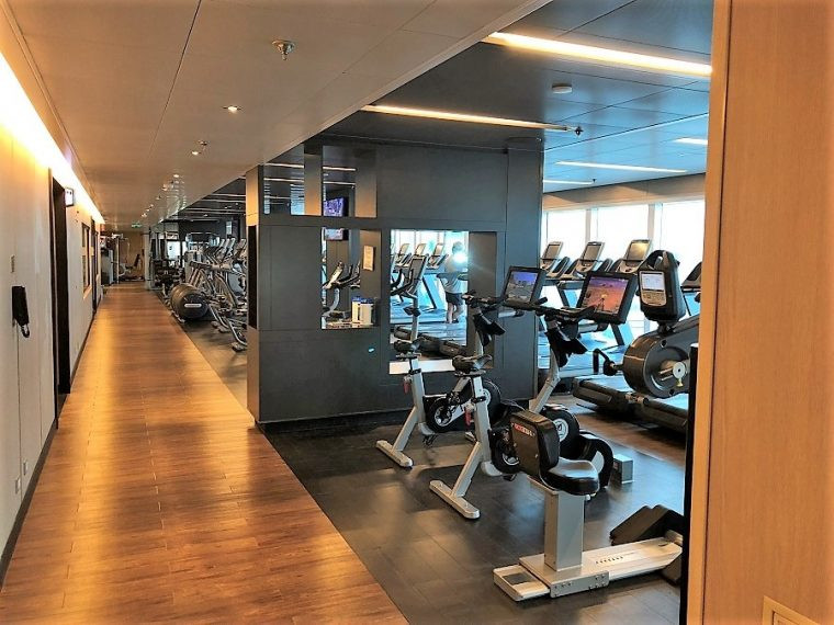 Fitness Center on the Royal Princess