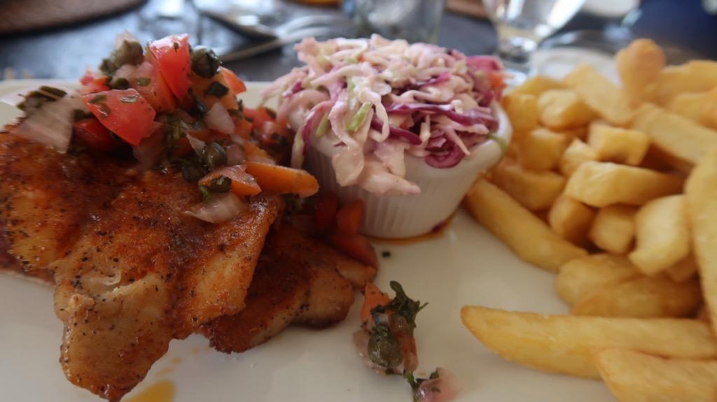 Mahi Mahi and tomato salsa - Atanltis Hotel, Barbados