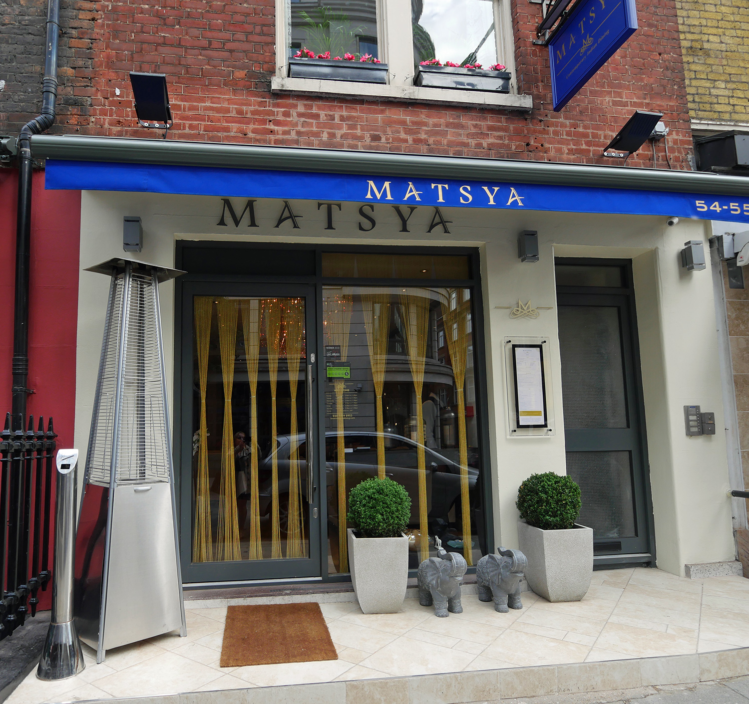 Matsya Indian Restaurant Mayfair - exterior