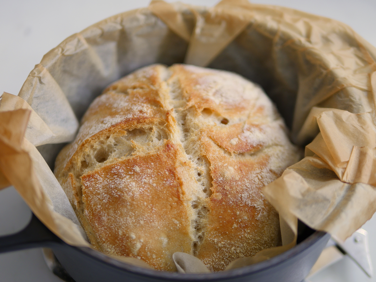 No Knead Artisan Bread Dutch Oven