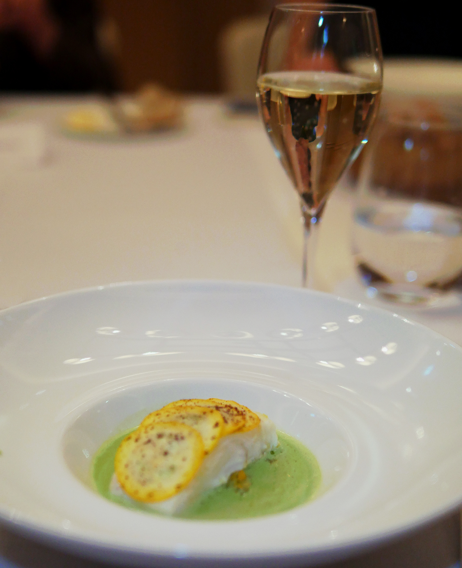 Nyetimber and fish - Alyn Williams at the Westbury