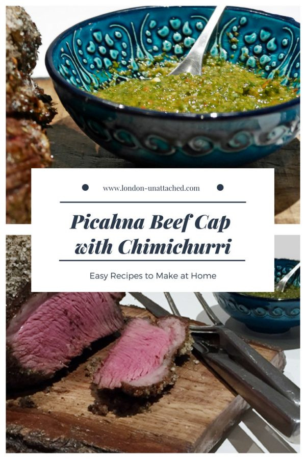 Picahna Beef Cap with Chimichurri Sauce