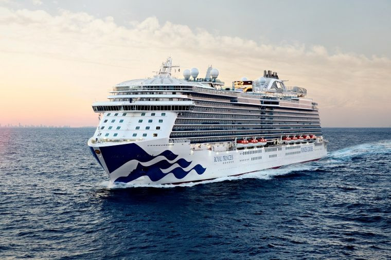 Royal Princess Cruise ship at sea