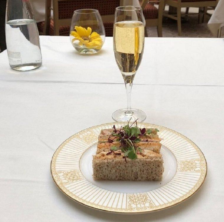Sanwiches and Castelnau champagne High Palms High Tea The Landmark London